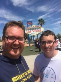 My son and I at the famous Las Vegas sign