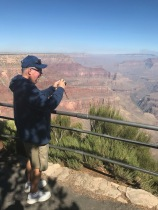 My dad taking a picture of the Grand Canyon